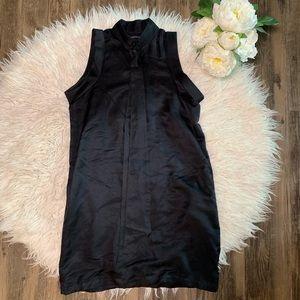 • Club Monaco Black Silk Tie Work Dress •